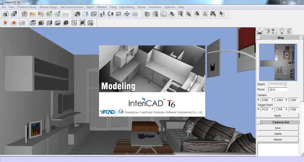 InteriCAD T6 Software Demo