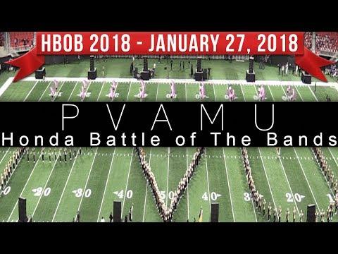 Prairie View A&M Marching Band PVAMU - 2018 Honda Battle of the Bands HBOB BOTB