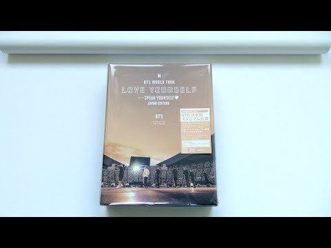 [ASMR] Unboxing BTS WORLD TOUR LOVE YOURSELF SPEAK YOURSELF JAPAN EDITION DVD (Limited Edition)