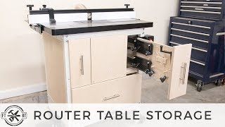 Router Table Storage Upgrade | Shop Organization