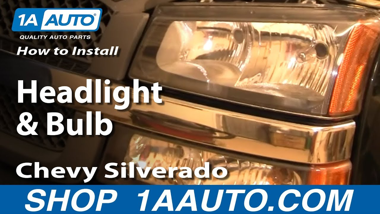 How to Replace Headlights 0306 Chevy Silverado 1500  YouTube