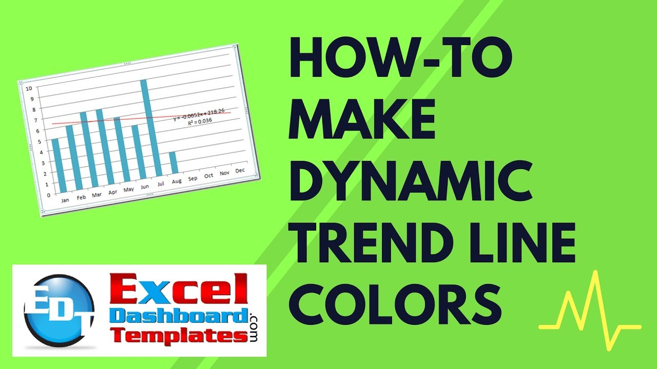 How to make dynamic excel trend line colors youtube how to make dynamic excel trend line colors excel dashboard templates alramifo Gallery