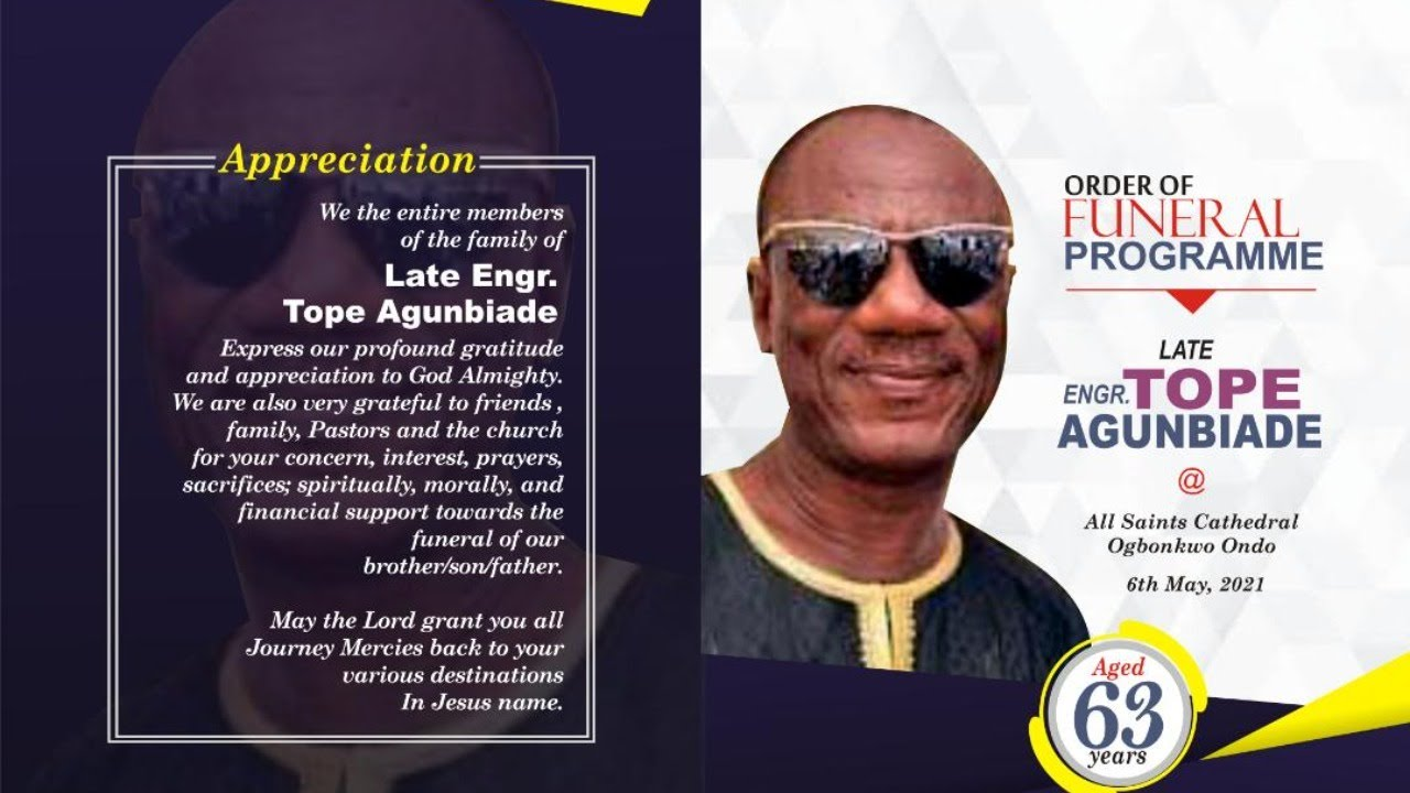 Download CELEBRATION OF LIFE OF ENGR. TEMITOPE VICTOR AGUNBIADE