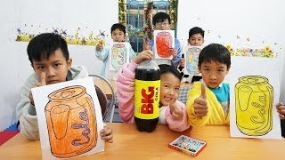Tony Bin Go To School Learn Colors Big Cola Drinks | Kids Learn Colors Funny Together