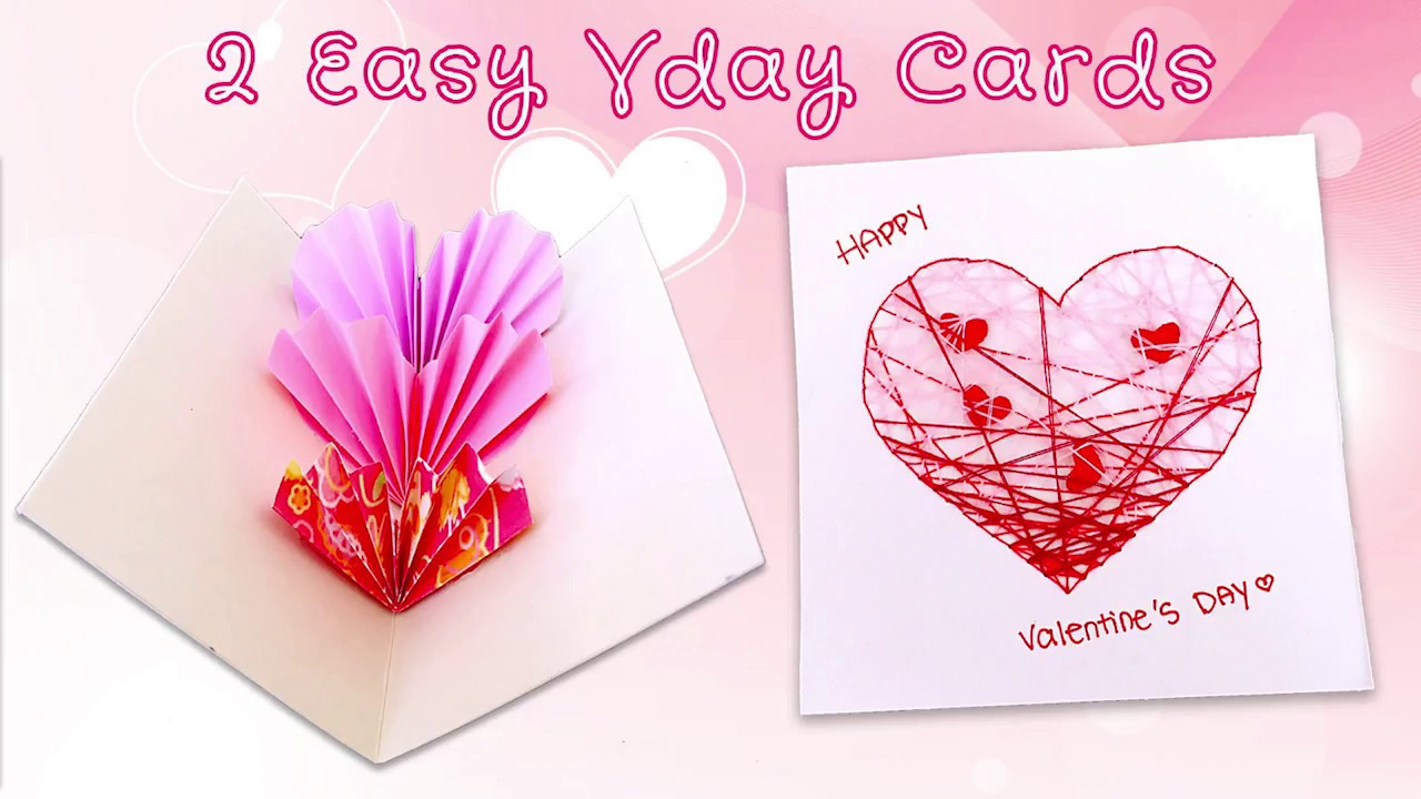 5 Minutes Valentine S Day Card Sunny Diy Youtube