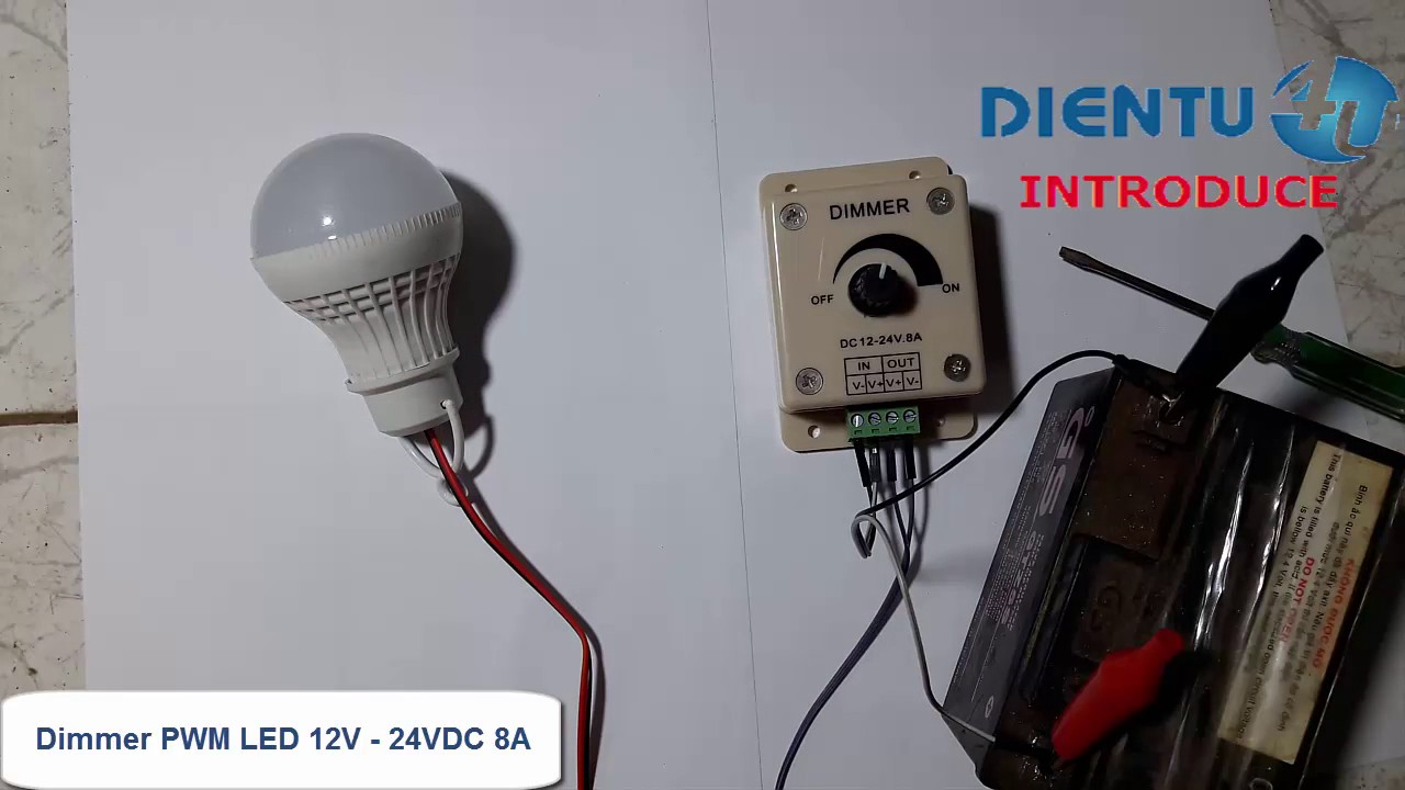 Dimmer Pwm Led 12v 24vdc 8a Youtube