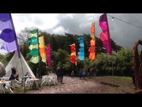 New Leaf festival flags - The Event Flag Hire Company