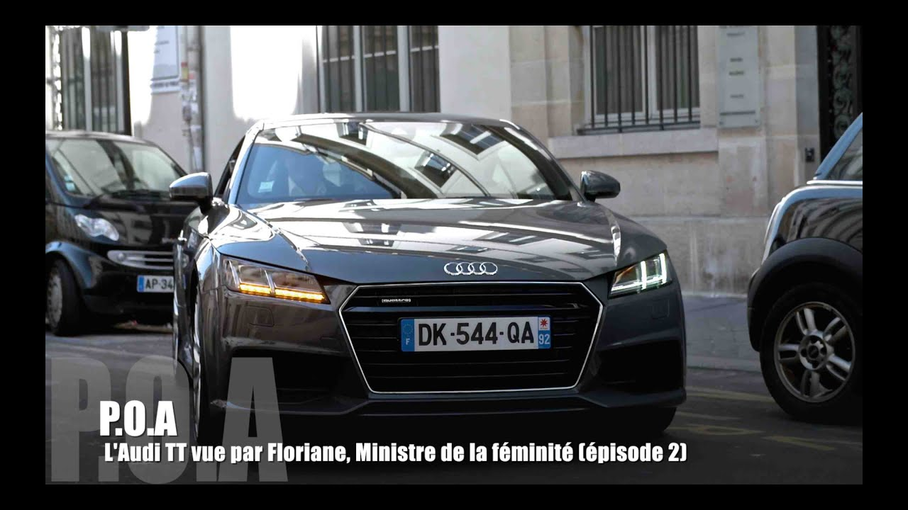 nouvelle audi tt coup 8s 2015 la conduite par floriane 2 2 youtube. Black Bedroom Furniture Sets. Home Design Ideas