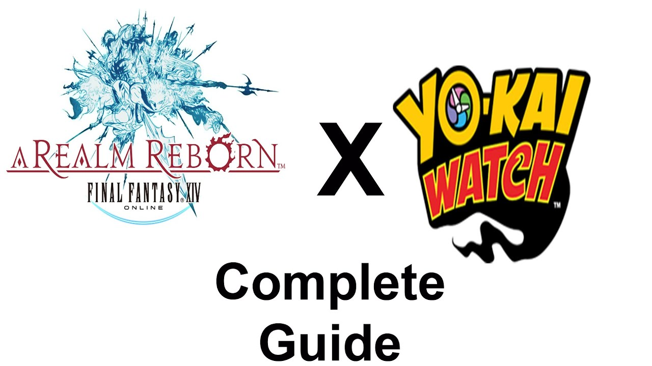 FFXIV Yo-Kai Watch Event Guide - How to obtain everything! (Minions,  Weapons, and BOTH MOUNTS)