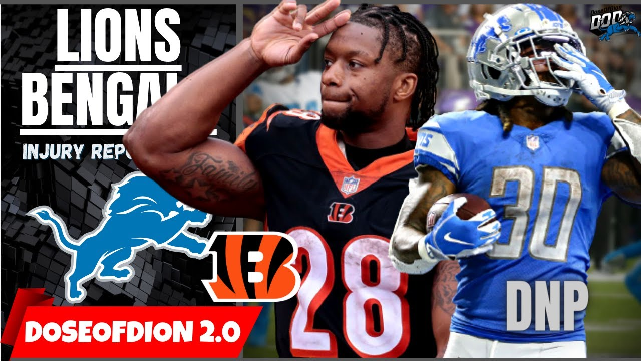 Bengals Game Today: Bengals vs Lions injury report, spread, over ...