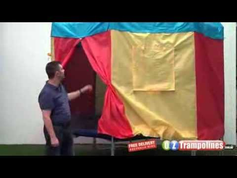 & Trampoline Tent - Trampoline With Tent - YouTube