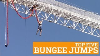 TOP FIVE BUNGEE JUMPS | PEOPLE ARE AWESOME