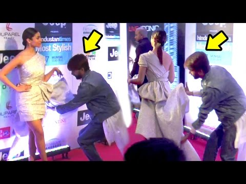 Alia Bhatt Hired A Person Just To Handle Her Long Dress At HT Style Awards 2017