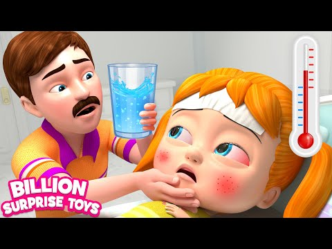Baby Health Care Song | LESSON For FEVER | 3D Doctor Nursery Rhyme & Kids Song