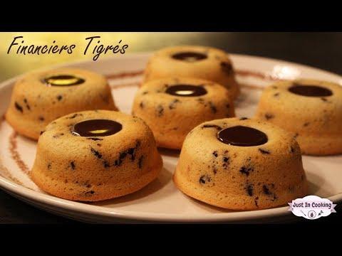 Recette des Financiers Tigrés au Chocolat