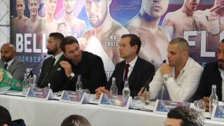 TONY BELLEW TAUNTS BJ FLORES DURING FINAL PRESS CONFERENCE AHEAD OF CLASH / BELLEW v FLORES