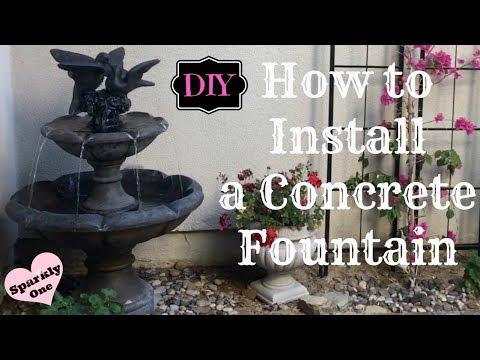 Howtoinstallconcretefountain Fountaininstallation Resedapottery