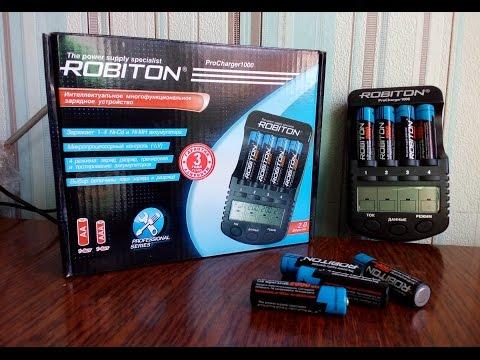 Зарядка и аккумуляторы ROBITON. Распаковка и тэст.