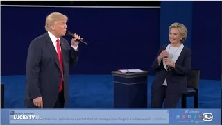 Trump vs Clinton Duet Time of My Life Interview Lucky TV