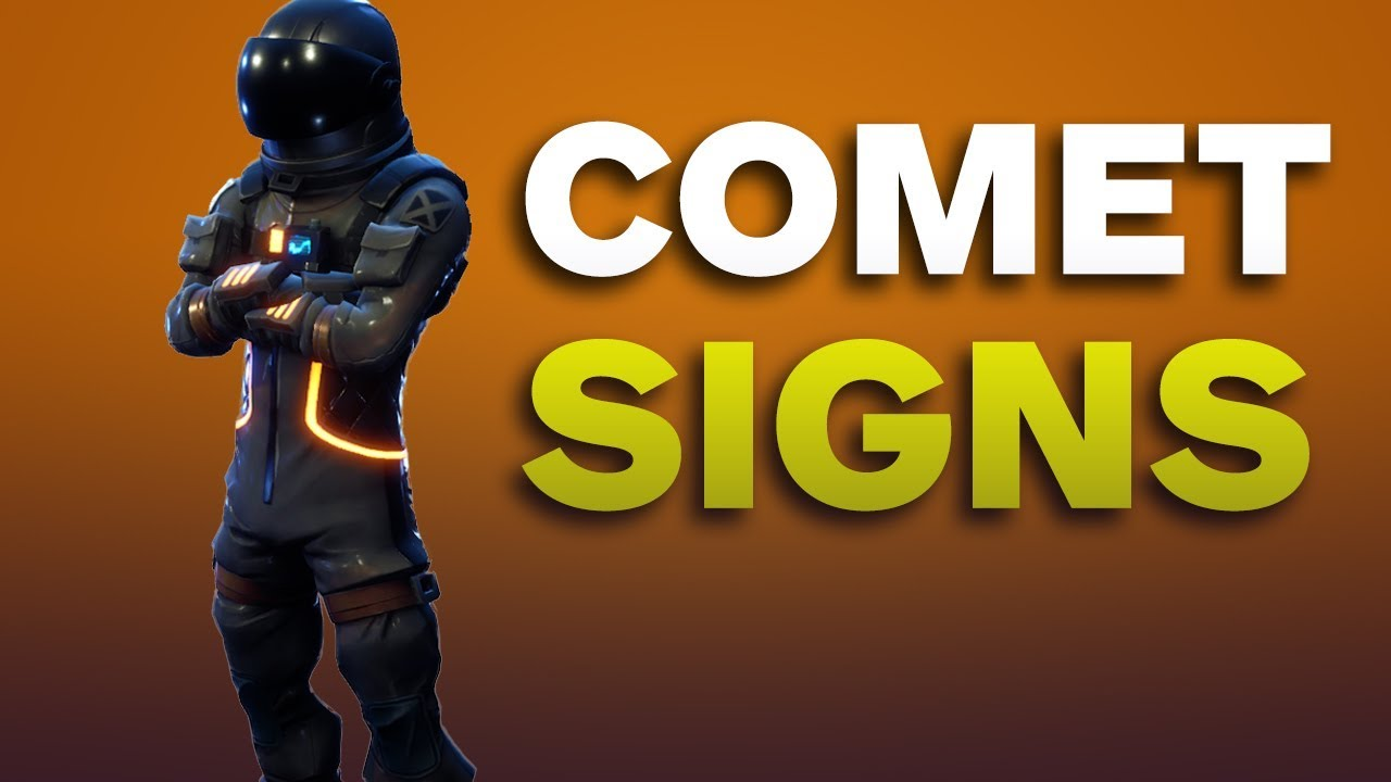 Fortnite: NEW Comet Signs In Tilted Towers!!