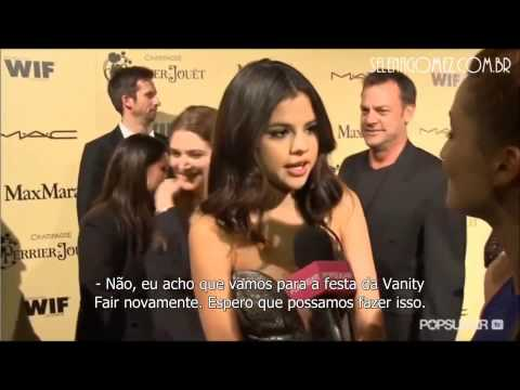 Selena's plans with Justin for the Oscars (February 25, 2012)