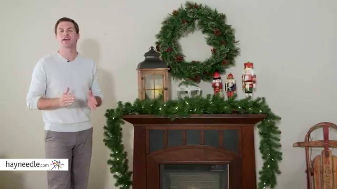 9 Ft North Valley Spruce Pre Lit Led Garland Battery Operated Product Review Video