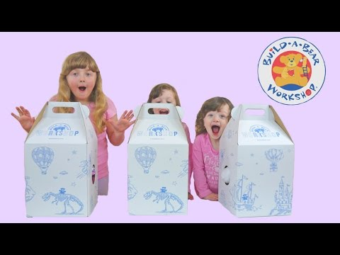 Disney Frozen Build a Bear Workshop Surprise Box opening Elsa and Anna Teddy Bears