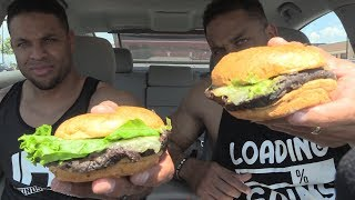 Eating Smashburger Vegan Black Bean Burger @Hodgetwins thumbnail
