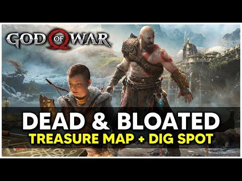 God Of War - Dead & Bloated Treasure Map + Dig Spot Locations