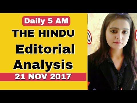 THE HINDU EDITORIAL ANALYSIS 21 NOV 2017(IAS,SSC,BANKING,PCS ,CURRENT AFFAIRS)