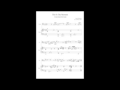 This is The Moment from Jekyll & Hyde Cello and Piano Sheet Music