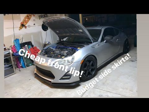 Front Lip And Side Skirt Install On FRS/BRZ/86!