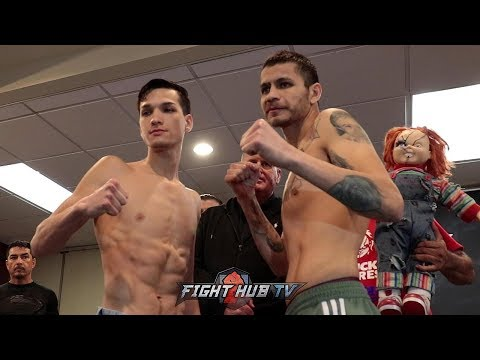 BRANDON FIGUEROA AND MOISES CHUCKY FLORES - FACE TO FACE - FULL WEIGH IN