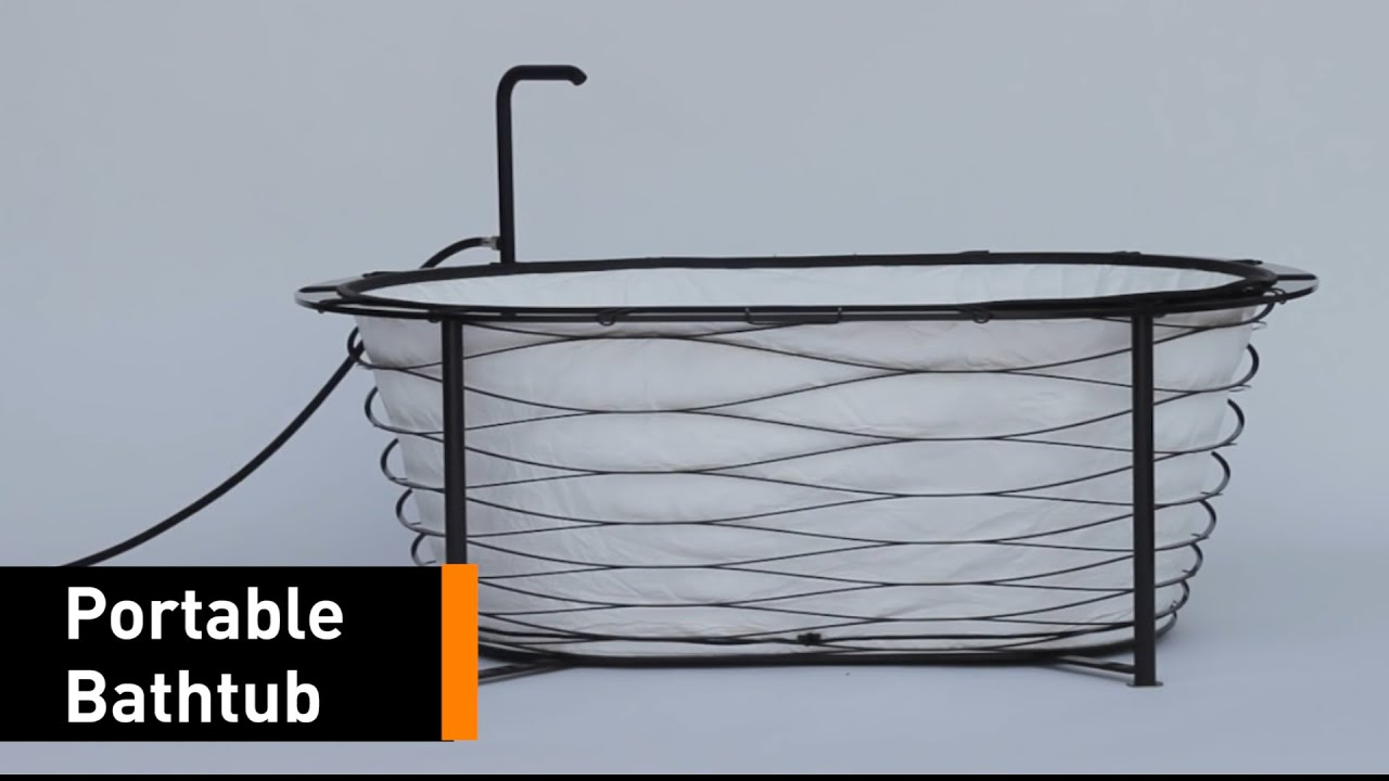 Now You Can Shower On-The-Go With This Foldable Bathtub - YouTube