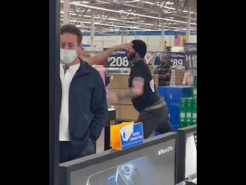 Fight in Walmart - North Bergen, New Jersey