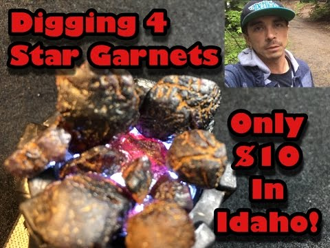 Tons Of Garnets @ Emerald Creek Star Garnet Area - Mining America Ep10 6/24/16