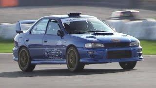 Subaru Impreza GC8 Sound on track w/ LOUD Turbo Screamer Pipe!