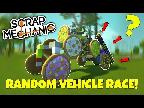 RANDOM VEHICLE SWAP RACE! WORST IDEA EVER!!! - Scrap Mechanic Multiplayer Challenge Gameplay