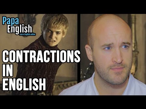 Why do we use contractions in English?