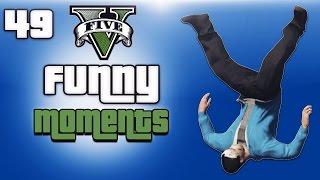 gta 5 online funny moments ep 49 fun missions pool dive car bouncy castle