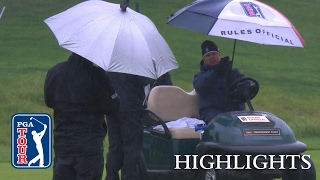 Highlights | Saunders and Vegas lead at rain-drenched Genesis Open