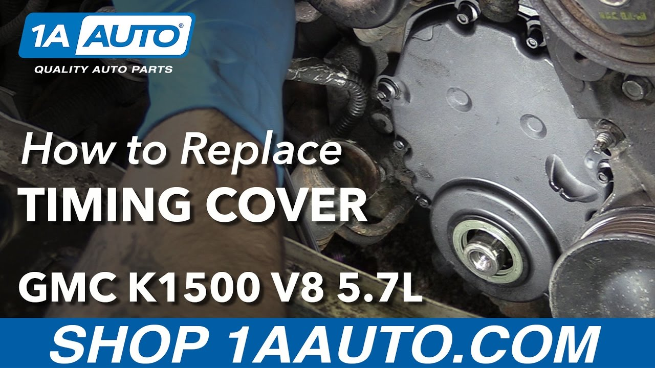 hight resolution of how to replace timing cover 96 00 v8 5 7l gmc k1500 youtube besides chevy 4 3 timing marks on 95 chevy 5 7 vortec engine diagram