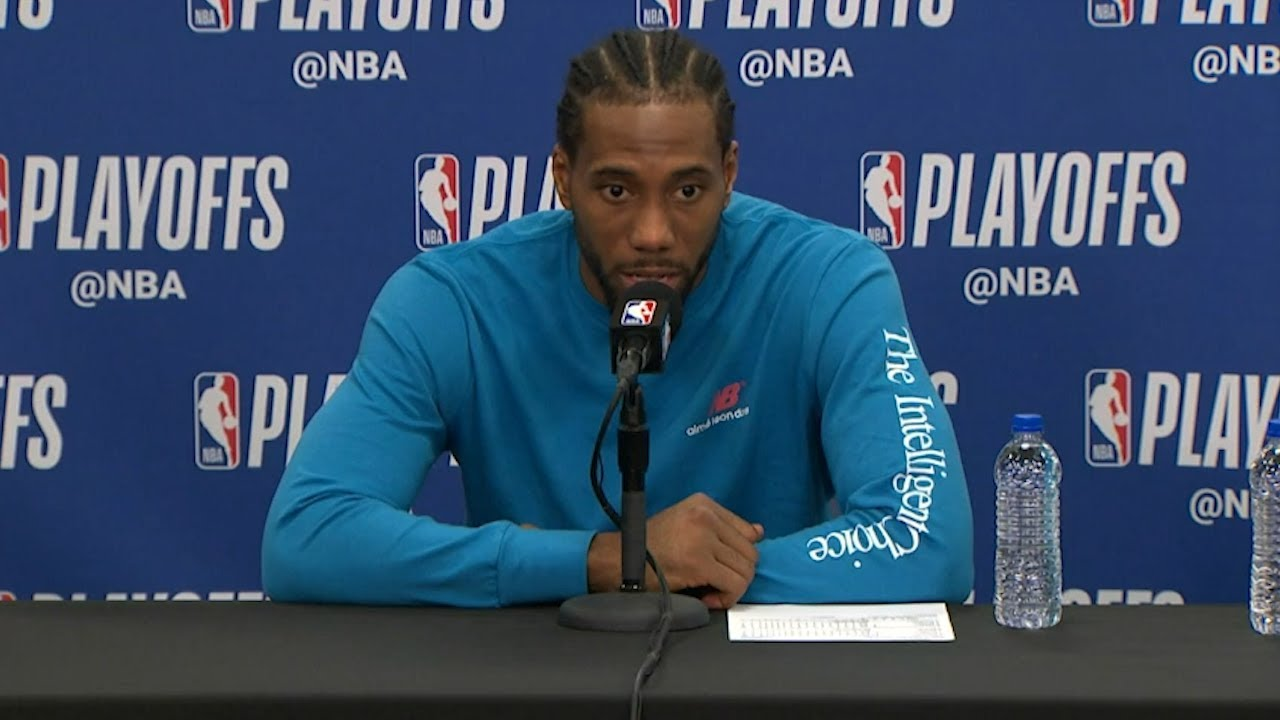 Kawhi Leonard Postgame Interview - Game 4 | Raptors vs 76ers | 2019 NBA Playoffs