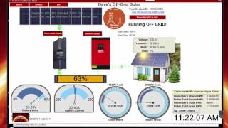 48 volt Off Grid System. AC-DC Power monitor software update. 2 systems