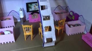 Как сделать домик для кукол.