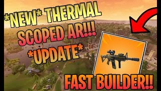|| FORTNITE BATTLE ROYALE|| 370+ WINS || NEW THERMAL SCOPED AR || NEW SKIN||