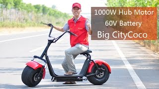 Most Popular 1000W 60V Electric Scooter Harley Citycoco ES8004