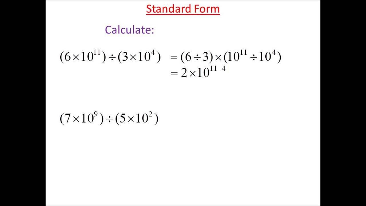 Standard form division 1 youtube standard form division 1 falaconquin