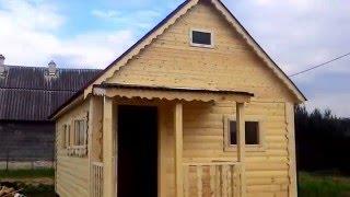 Строительство бани из бруса(Строительство бани из профилированного бруса 6х4 м. СК