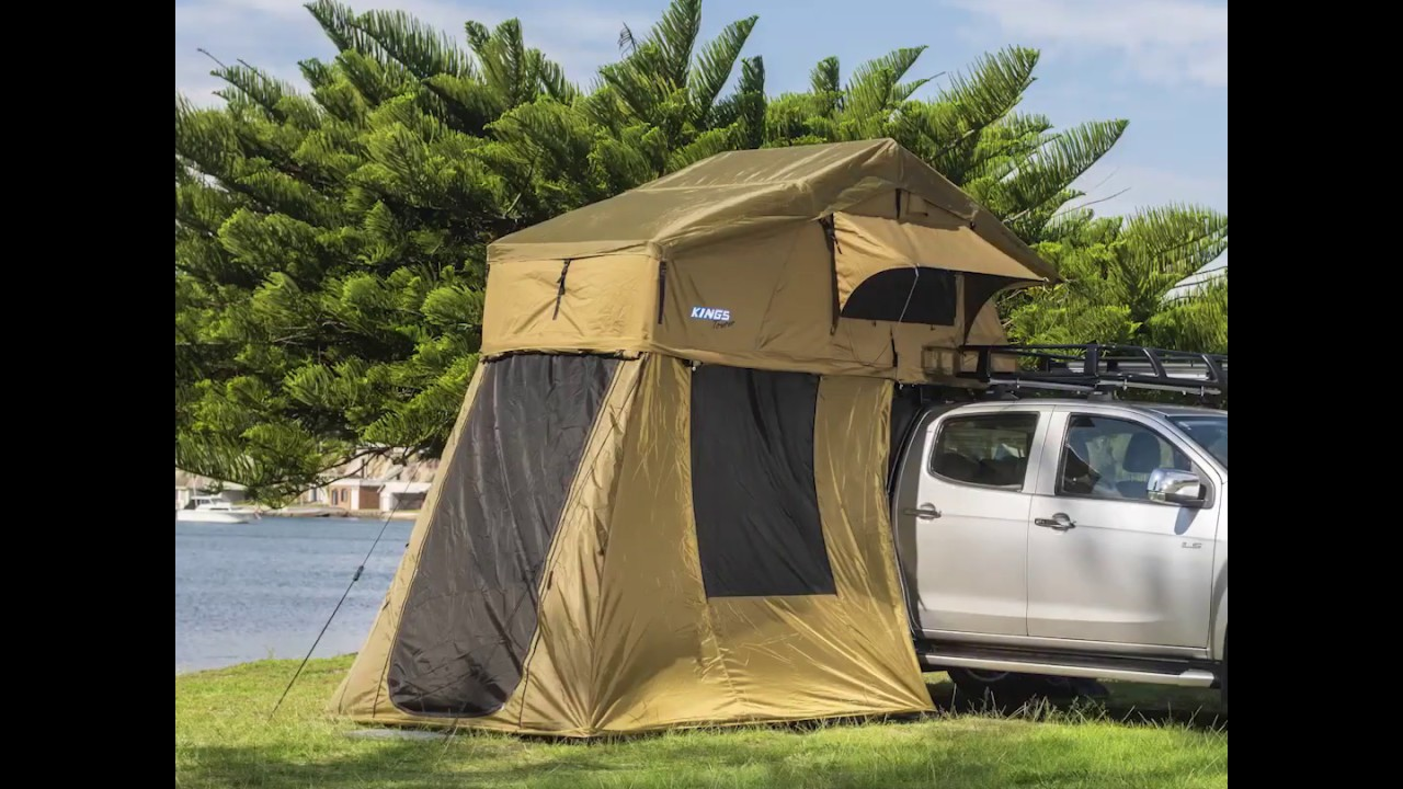 Adventure Kings Roof Top Tent Installation 4-man annex for roof top tent, fully waterproof | incl enclosed floor |  adventure kings